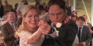 Dwight and Angela dancing in _The Office._