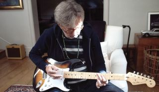 Eric Clapton plays a 2014 Fender Custom Shop Stratocaster