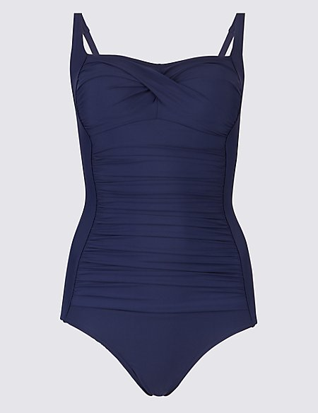 Black Swimming Costume Swimsuit Size 10 Bandeau Marks and Spencer