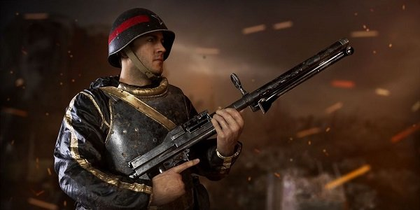 A soldier stands at the ready in Call of Duty: WWII.