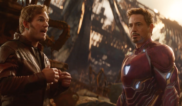 Star-Lord and Iron Man in Infinity War