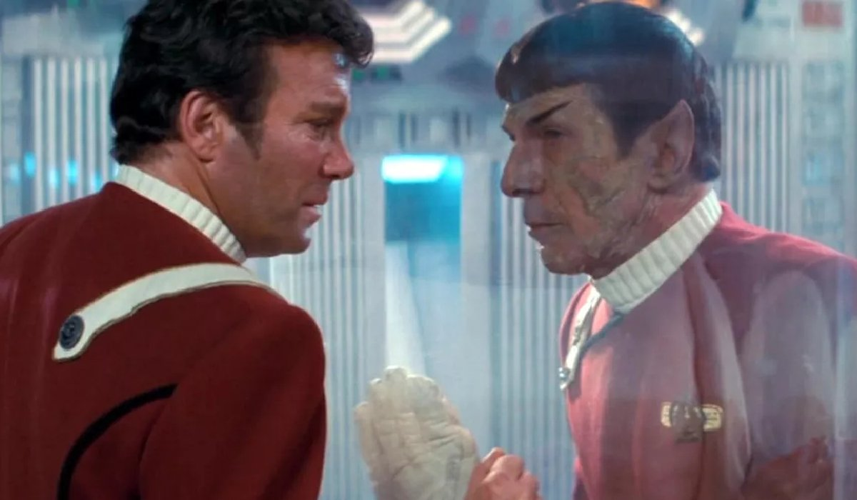 Star Trek II: The Wrath of Khan Kirk talks to a dying Spock