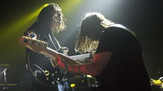 Post-rockers share mountains of pedals, bountiful synths and vintage guitar amps galore