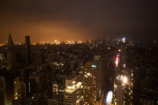 Lower Manhattan power outage, electricity, global warming