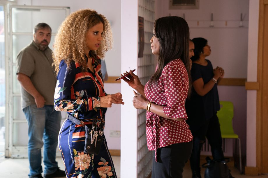 Chantelle is nervous before the start of the competition in Eastenders