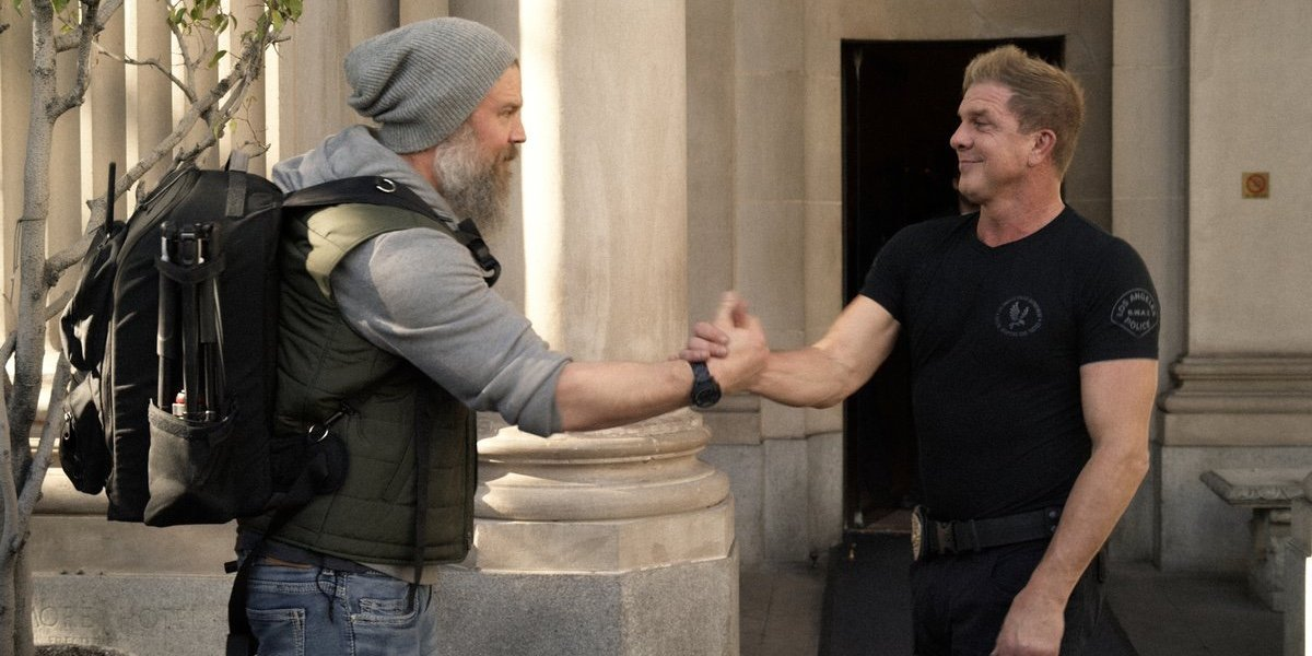 Ryan Hurst as Terry Luca and Kenny Johnson as Dominique Luca in S.W.A.T.