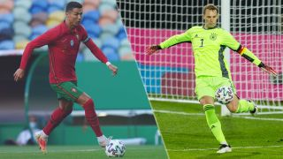 Portugal vs Germany live stream at Euro 2020 — Cristiano Ronaldo of Portugal and Manuel Neuer of Germany