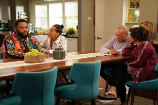 From left: Anthony Anderson, Tracee Ellis Ross, Laurence Fishburne and Jenifer Lewis in ABC's 'black-ish'