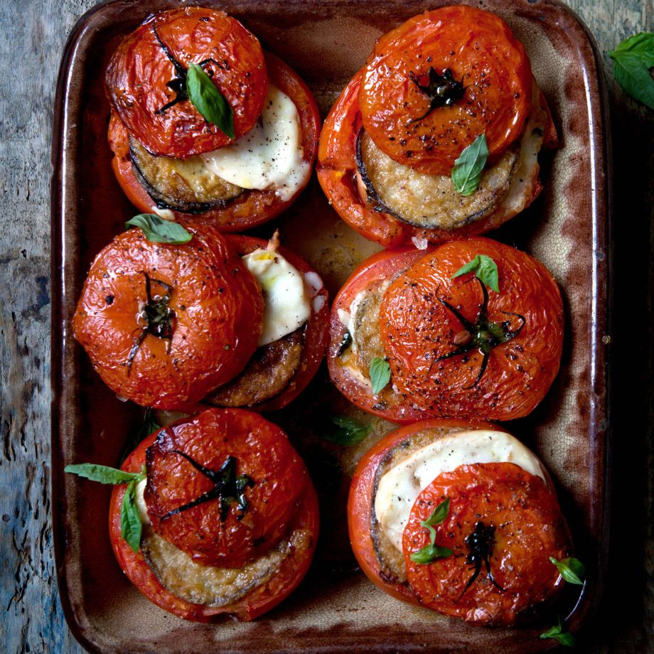 Aubergine Parmigiana' with Roasted Tomato Recipe