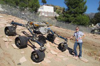 Shaunna Morrison and Curiosity rover