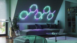 Nanoleaf Lines pattern in livingroom