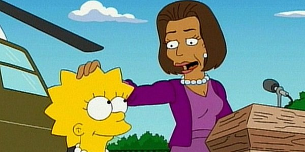 simpsons michelle obama