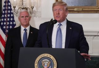 President Trump speaks about the mass shootings in El Paso, Texas, and Dayton, Ohio, on Aug. 5, 2019.
