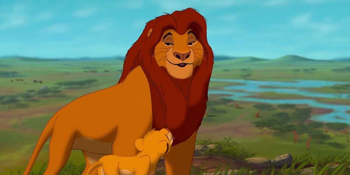 Mufasa and Simba in The Lion King