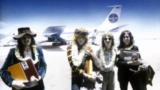 Led Zeppelin in Honolulu with the master tapes for Led Zeppelin II