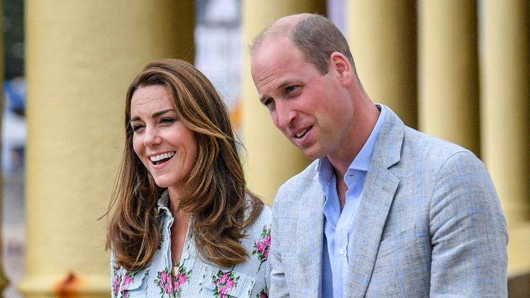 Prince William and Kate Middleton, Duchess of Cambridge on the promenade