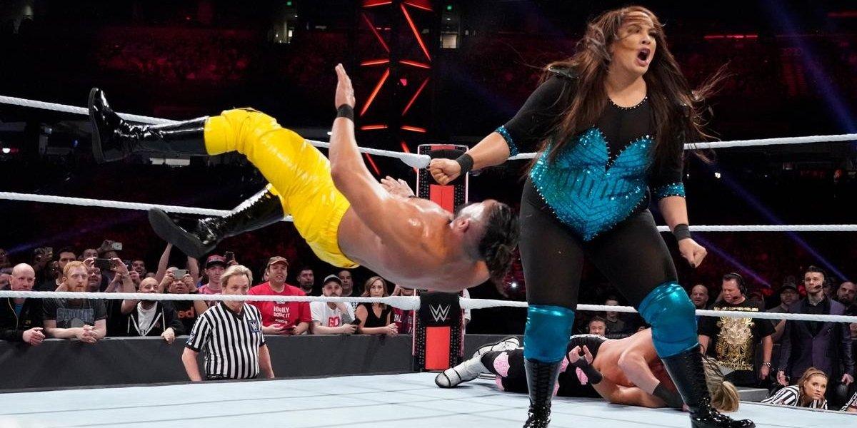 Nia Jax at the Royal Rumble