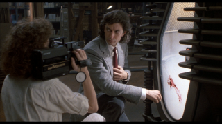 A still from The Fly