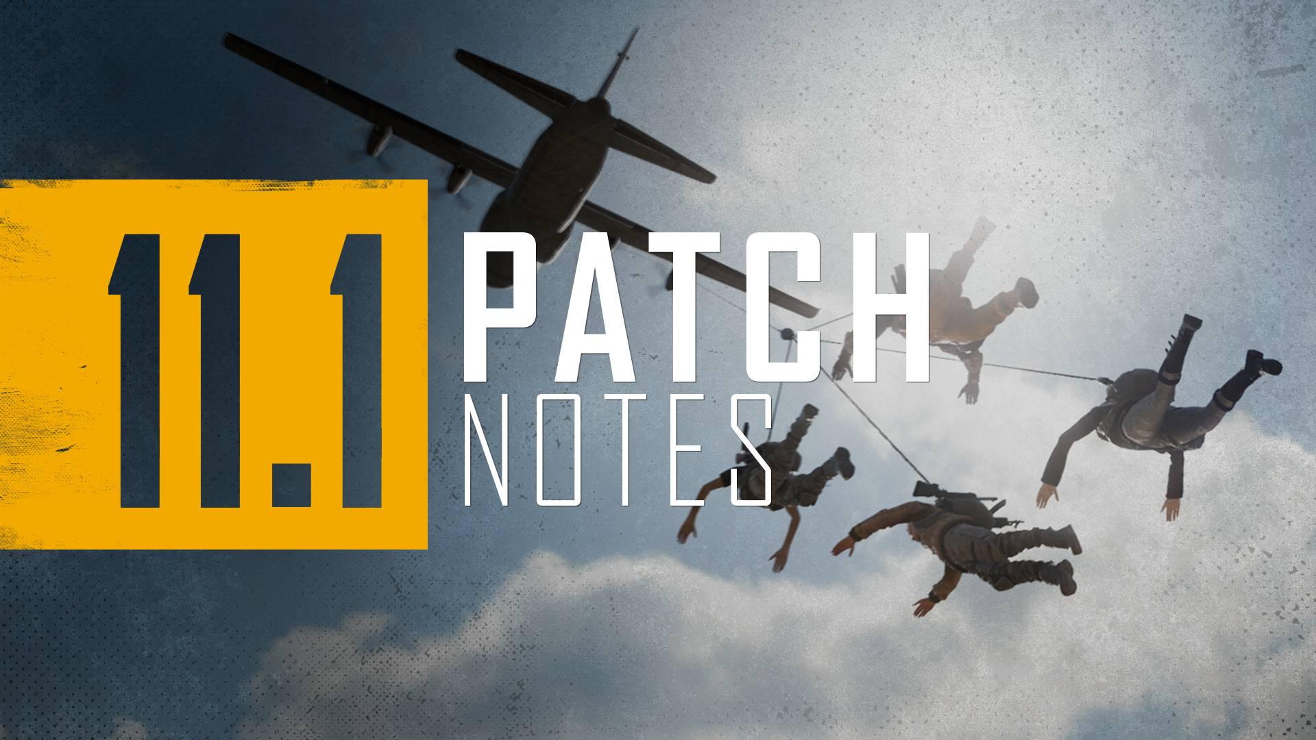 PUBG Update 11.1