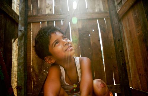 Slumdog Millionaire - Ayush Mahesh Khedekar as Mumbai street kid Jamal