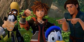 Sora and his pals in Kingdom Hearts 3.