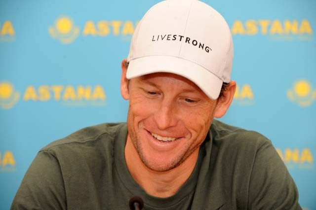 Lance Armstrong Astana press conference Tenerife Dec 08