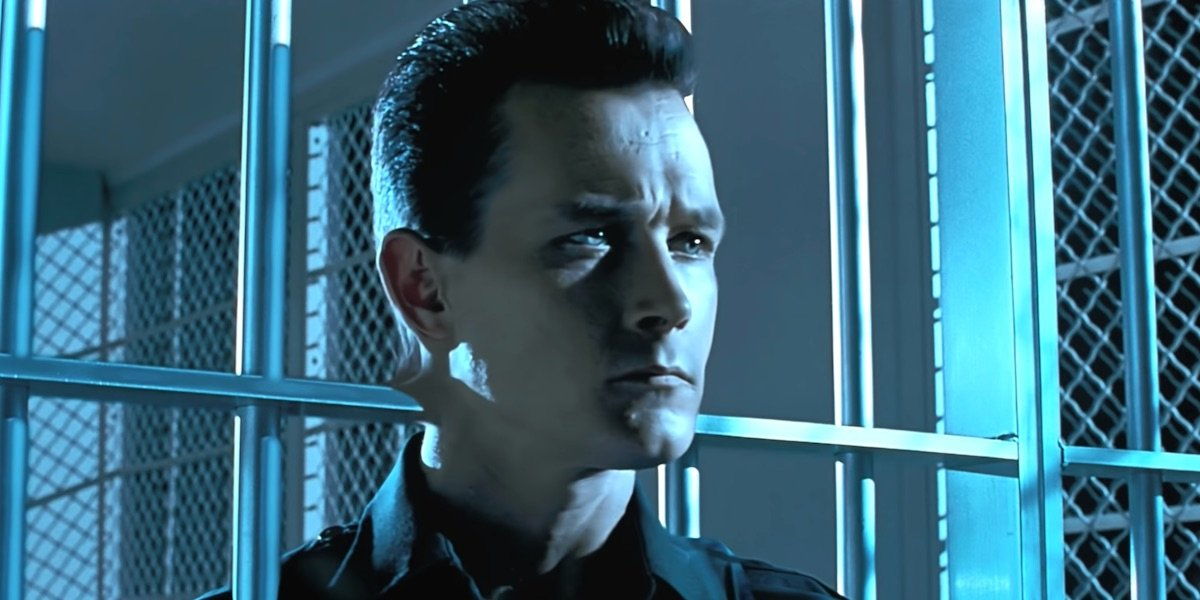 T-1000 going through the bars