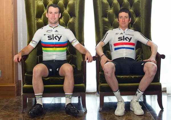 Mark Cavendish and Bradley Wiggins, Team Sky 2012 launch