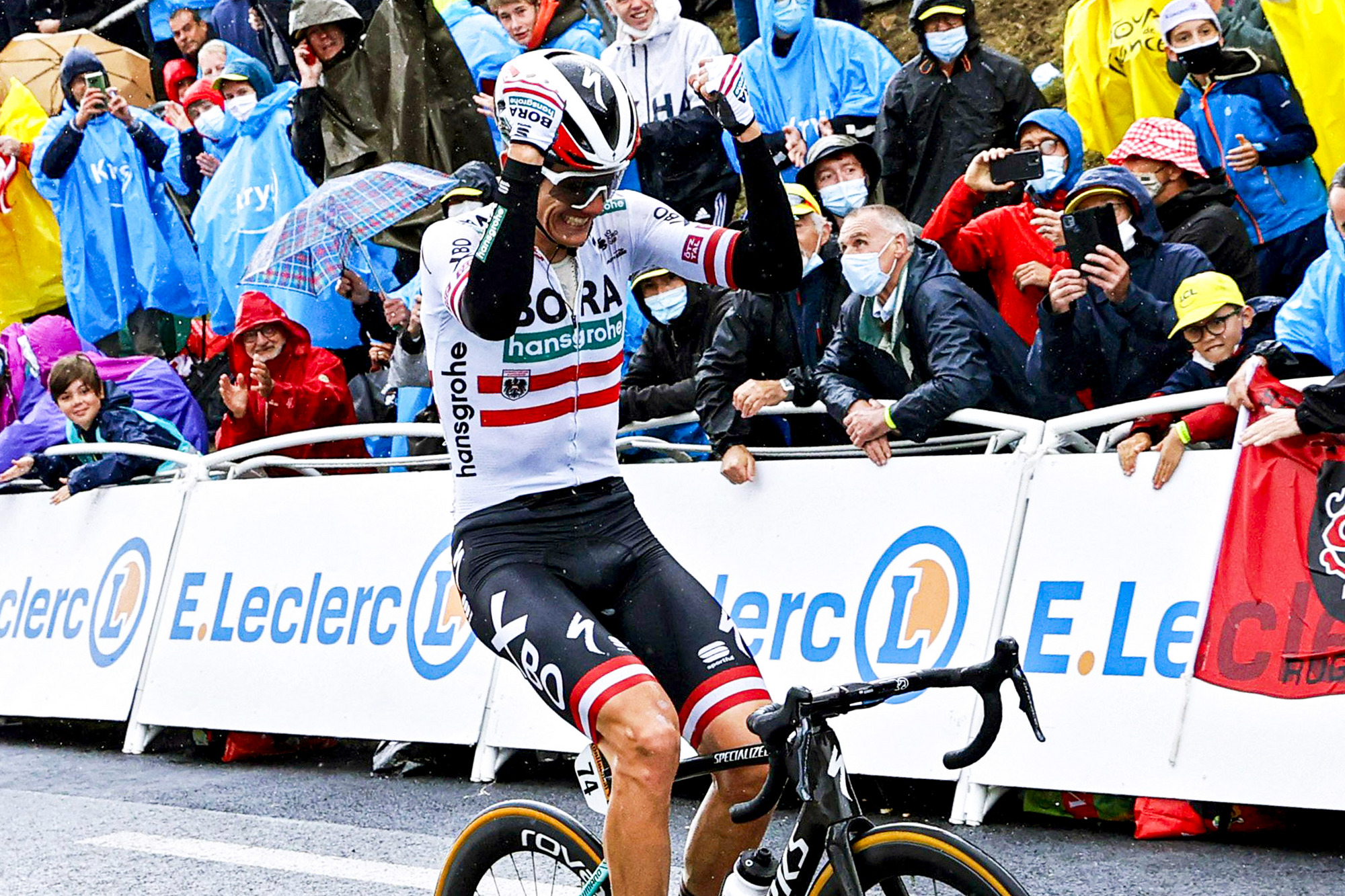 Tour de France 2021 - 108th Edition - 16th stage El Pas de la Casa - Saint-Gaudens 169 km - 13/07/2021 - Patrick Konrad (AUT - Bora - Hansgrohe) - photo Gregory Van Gansen/PN/BettiniPhoto©2021