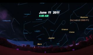 In May and June 2011, four planets will converge in the night sky.