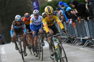 Wout van Wert – pictured at the 2020 Omloop Het Nieuwsblad – is likely to ride both the Tour de France and a number of the major one-day Classics for Jumbo-Visma in the second half of the 2020 season