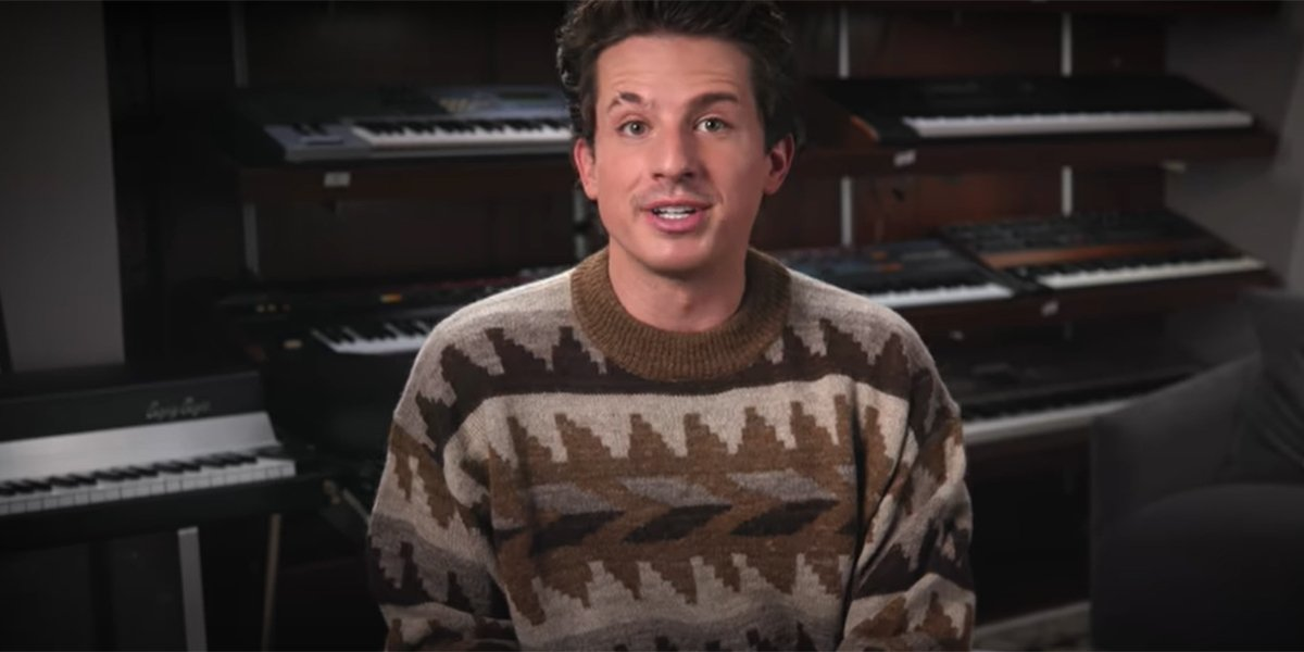 Charlie Puth in a video for his YouTube channel.