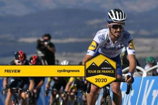 Deceuninck-QuickStep's Julian Alaphilippe on the offensive on stage 6 of the 2020 Tour de France