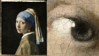 Girl with pearl earring panorama image