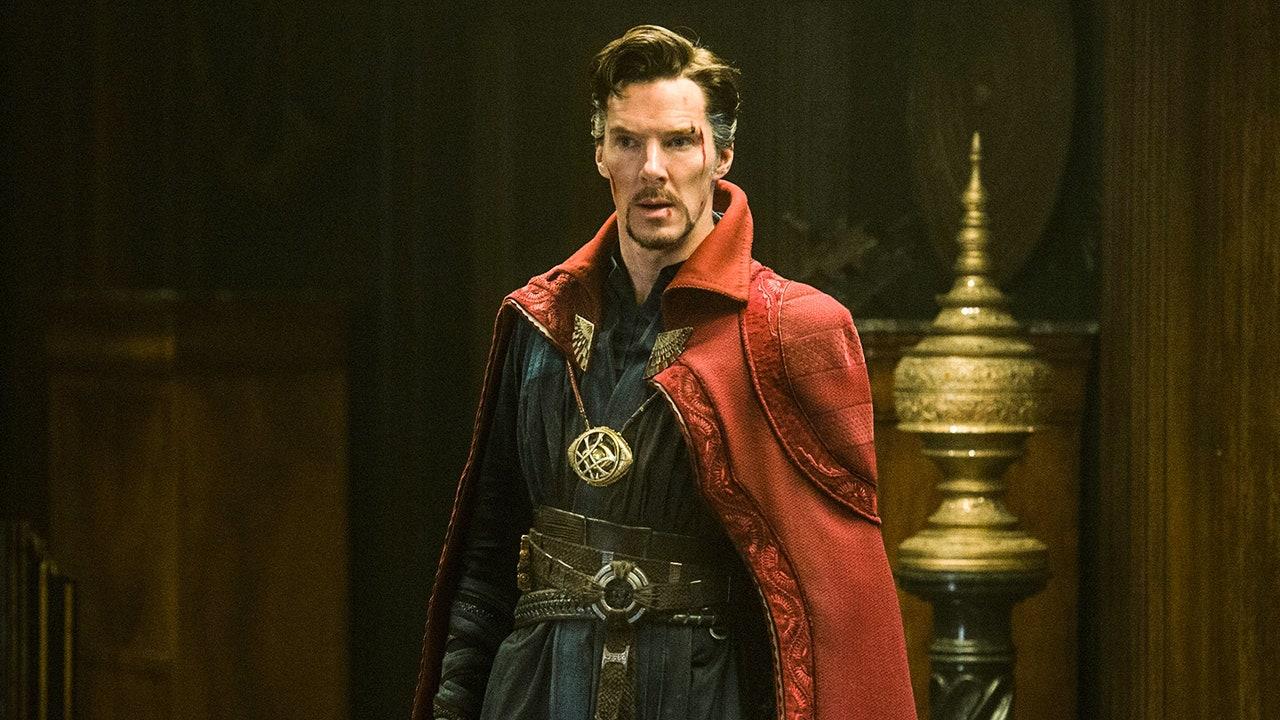 Doctor Strange looks worried in his first MCU movie