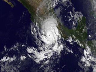 Hurricane Raymond satellite image