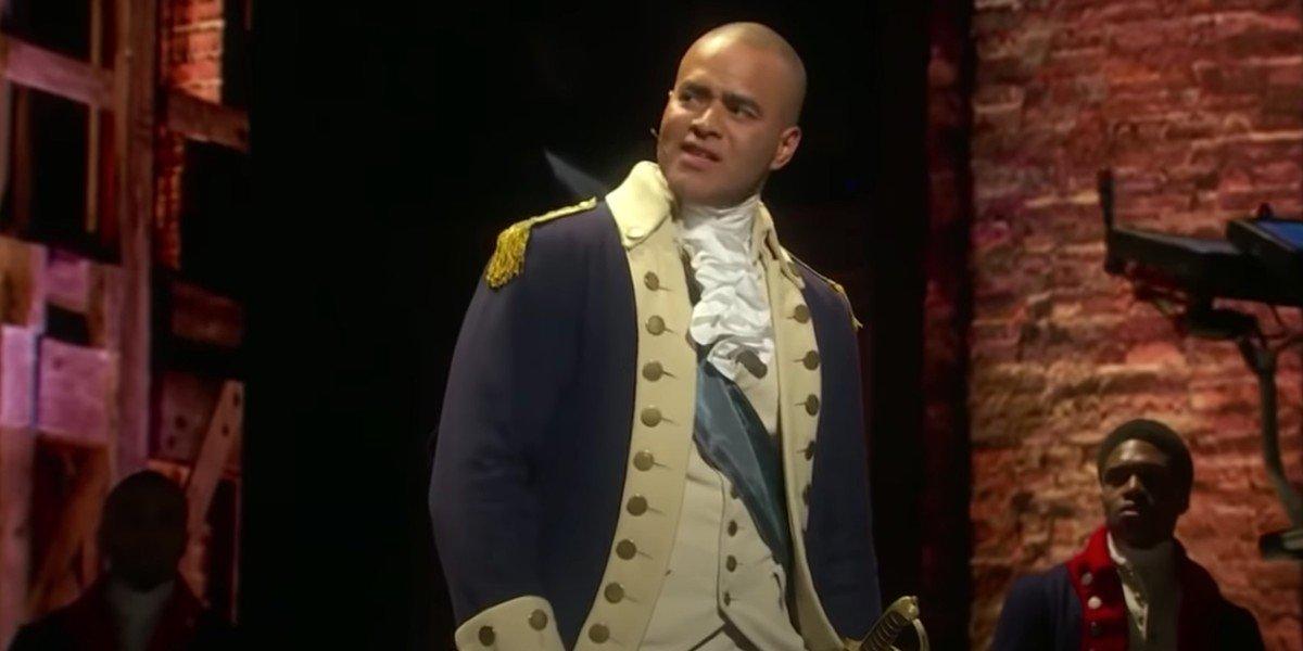 """Screenshot from YouTube: """"70th Annual Tony Awards 'Hamilton'"""""""