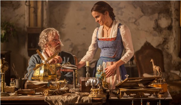 Disney's Beauty and the Beast Belle and her father in the workshop
