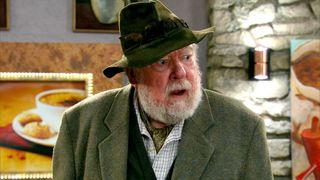 Emmerdale legend Freddie Jones as Sandy Thomas in Emmerdale
