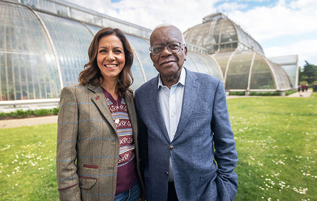 Julie Bardbury and Sir Trevor McDonald in Britain's Greatest National Treasures