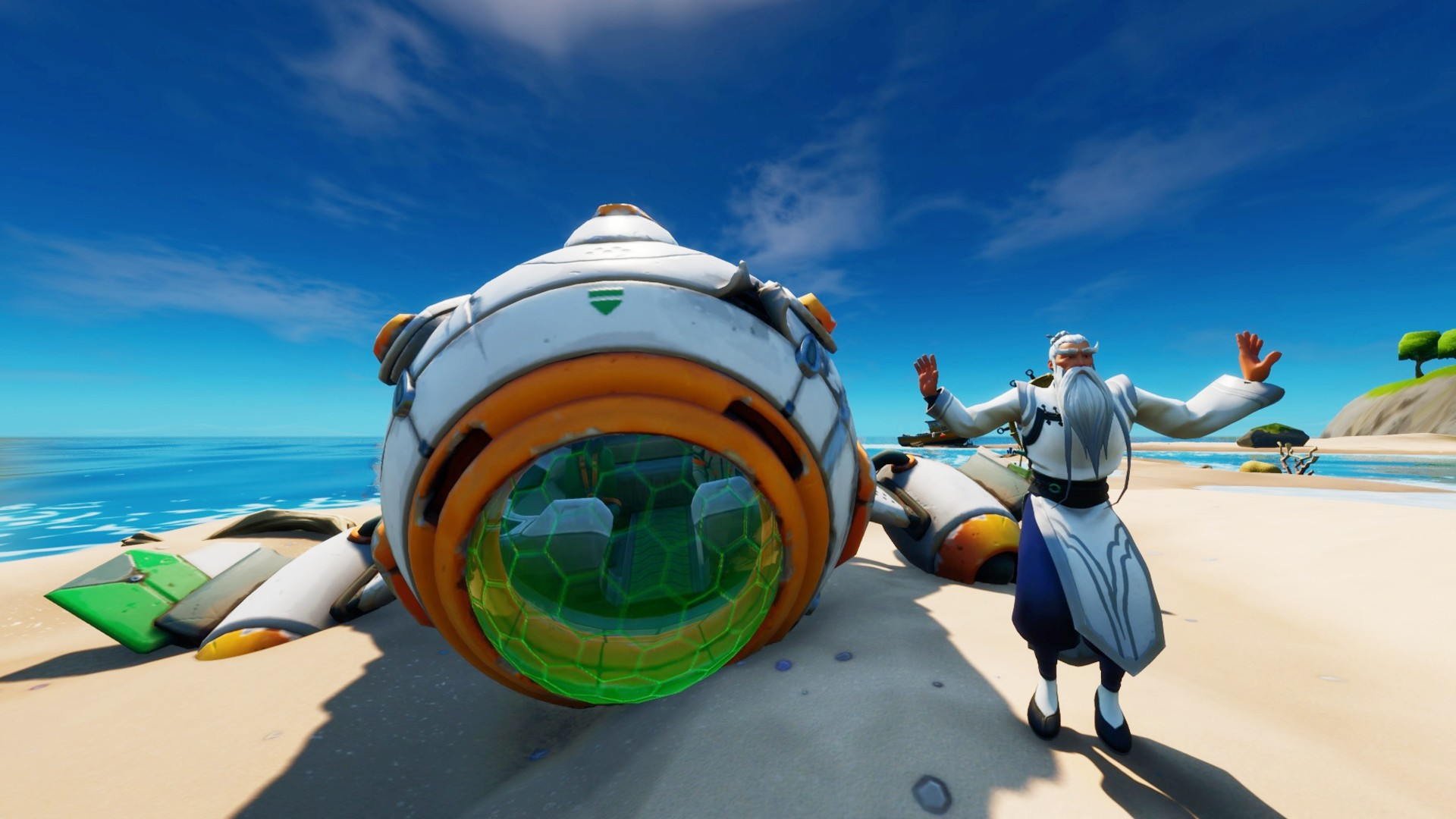 Rocket Ship Taking Off Fortnite Fortnite Astronaut Challenge How To Find The Ancient Ship And Install Its Missing Parts Pc Gamer