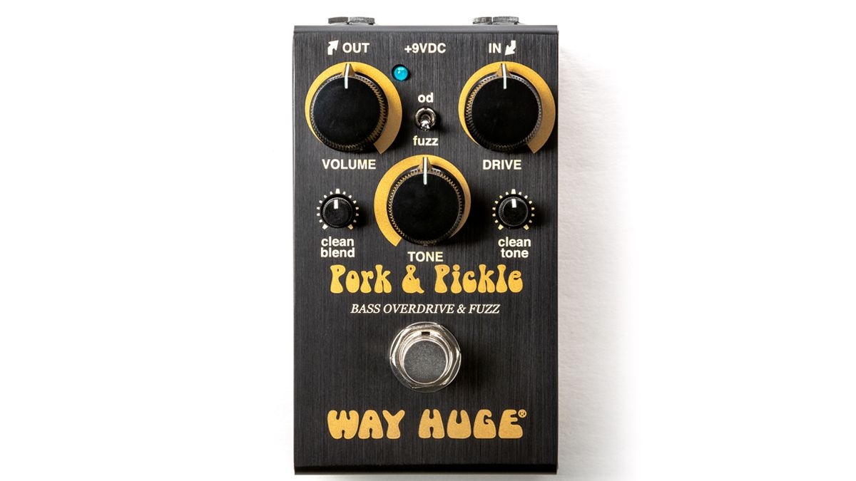 All killer, no sandwich filler! Way Huge cooks up the Pork & Pickle bass overdrive/fuzz in a smaller enclosure