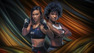 Michelle Waterson vs. Angela Hill UFC Fight Night Vegas 10 promotional banner