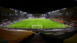 Molineux Stadium in Wolverhampton, England.
