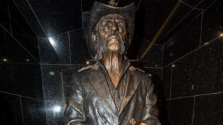 The Lemmy statue at the Rainbow Bar & Grill