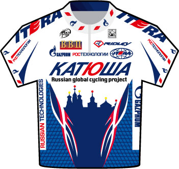 Katusha Tour de France 2009 team jersey