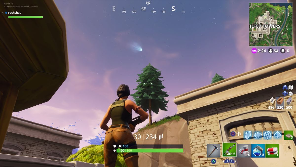 Fortnite players believe a comet is set to destroy Tilted Towers