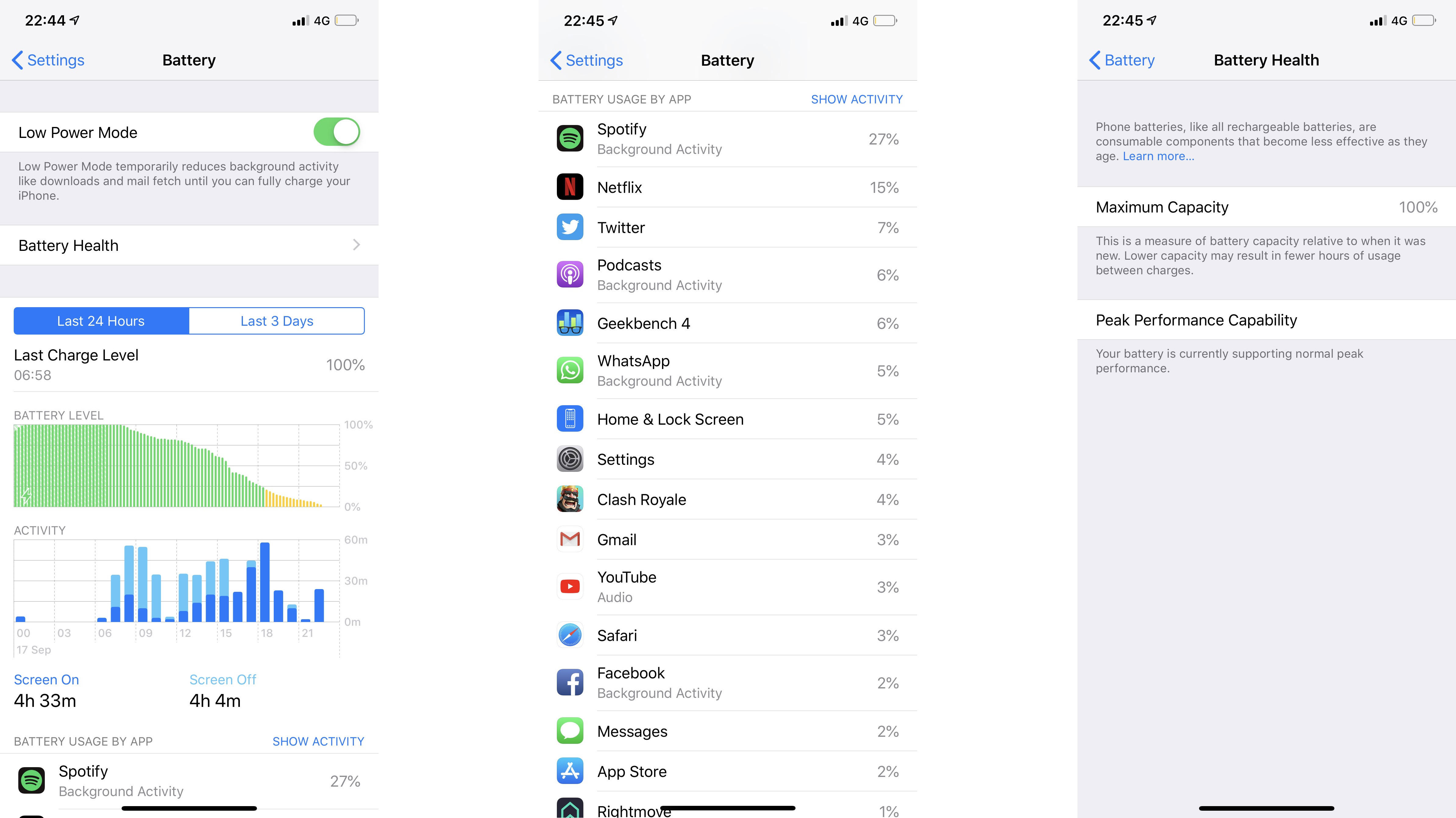 We were able to get a full day of use out of the iPhone XS Max with moderately high usage