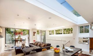clerestory windows in open plan space