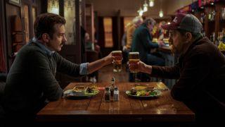 "Jason Sudeikis and Brendan Hunt in Season 2 of ""Ted Lasso"" on Apple TV Plus."